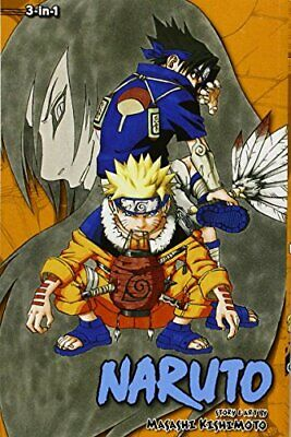 Naruto 3-in-1 Edition 3 by Kishimoto  New 9781421539911 Fast Free Shipping..