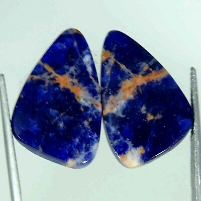 14.80Cts Natural Blue Sodalite Pair Fancy Cabochon Loose Gemstone