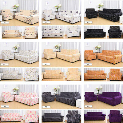 1/2/3/4 Seater Home Stretch Floral Sofa Cover Slipcover Settee Couch Protector