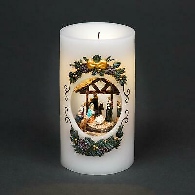 Christmas Musical Nativity Candle Light Moving Figures Xmas Party Decorations