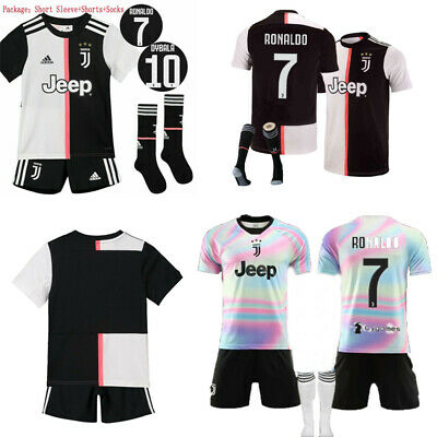 UK 19/20 Kids Boys Football Full Kit Youth Jersey Strips Soccer Sports Outfit