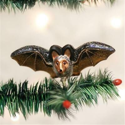 Old World Christmas HALLOWEEN Clip-On BAT Flying Ornament Handblown GLASS