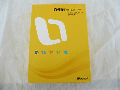 Microsoft Office 2008 Home and Student Edition for Mac - open box, never used
