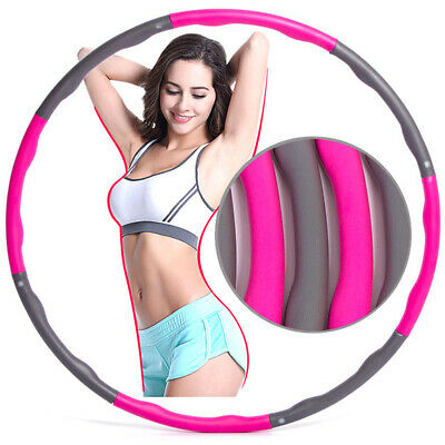 Collapsible 1KG Weighted Hula Hoop Sport Hoop Fitness Exercise Gym Workout Hoola