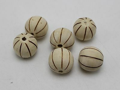 Natural Round Untreated Plain Wooden Balls Bead With Hole 16mm 25 50 100 W13