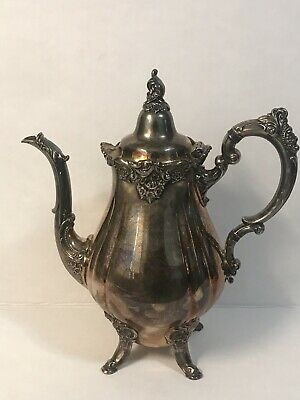 """""""BAROQUE"""" by WALLACE Teapot #281 Silverplate Silver Serving Tea 57 Of 3827"""