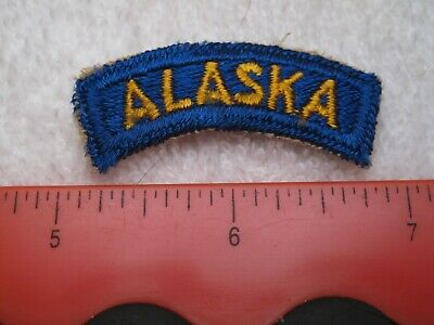 "Wwii Us Army Air Corps ""Alaska"" Defence Command Tab Original & Authentic !!"