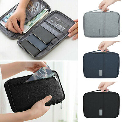 Waterproof RFID Blocking Passport Card Holder Pouch Security Travel Wallet Bag