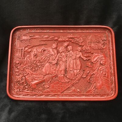 Chinese folk lacquerware, scenery and people, collectibles  dq90  004