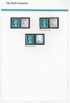 SPECIALISED COLLECTION OF UNMOUNTED MINT 32p MACHINS