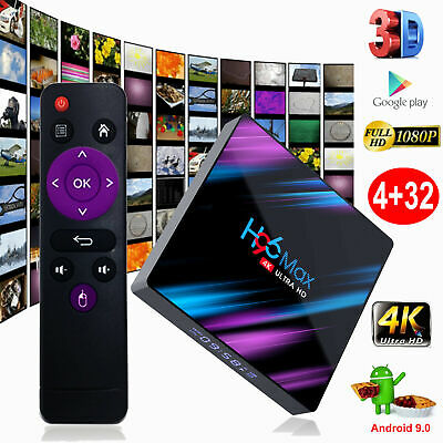 H96 Max Android 9.0 Smart TV Box 64G Quad Core 4K HD 5.8GHz WiFi Media Player US