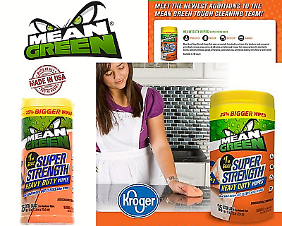 Mean Green Wipes 490 Super Strength Heavy Duty Multi Purpose Cleaning Tools BBQ