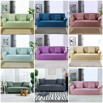 1-4 Seater Stretch Sofa Cover Slipcovers Elastic Couch Cover Slip On Dirt-proof