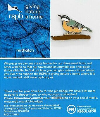 RSPB Pin Badge | nuthatch GNAH BLUE (01526)