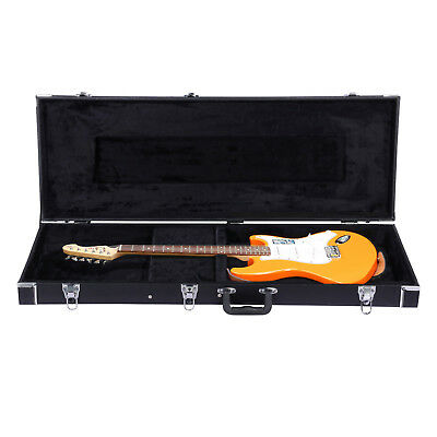 PU Leather Covered Wood Electric Guitar Case Hard Lockable Hard-Shell Case