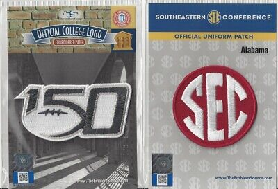 2019 NCAA College Football 150th Anniversary Alabama SEC Conference Patch Combo