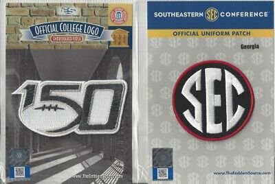 2019 NCAA College Football 150th Anniversary Georgia SEC Conference Patch Combo