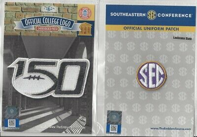 2019 NCAA College Football 150th Anniversary LSU SEC Conference Patch Combo
