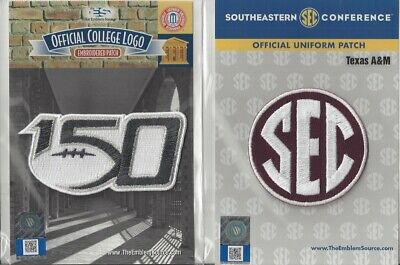 2019 NCAA College Football 150th Anniversary Texas A&M SEC Conference Patch Cmbo