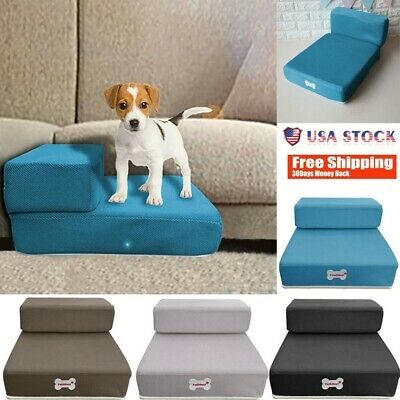 Dog Pet Stairs Cat Steps Indoor Ramp Folding Animal Ladder with Cover Dog Ramp