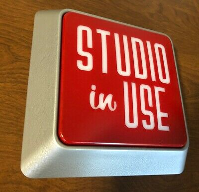 ON AIR RECORDING studio IN USE warning lighted sign light 120 volt w/hardware