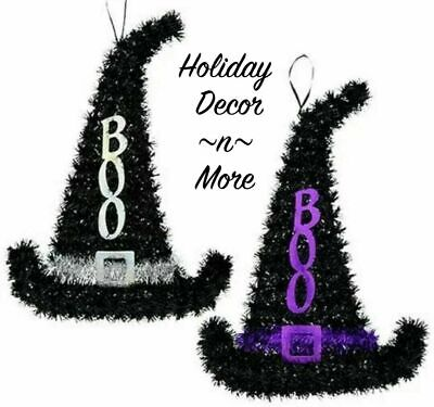 Tinsel Witch Hat Frame Hanging Halloween Wreath Form Supply Door Elf Santa