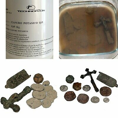 Hard Dirt? Not Any More-Use Cianuro For Your Old & Ancient Metals-Coins-Artifact