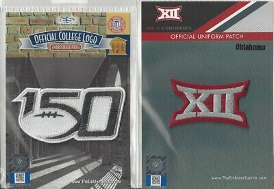 2019 NCAA College Football 150th Anniversary Oklahoma Big 12 Conf Patch Combo