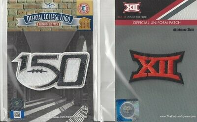 2019 NCAA College Football 150th Anniversary Oklahoma St Big 12 Conf Patch Combo