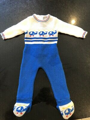 Vintage Knitted Baby All In One Age 3-6 Months