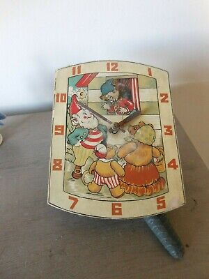 Vintage Rare Paico?? Noddy & Friends Weight Driven Wall Clock