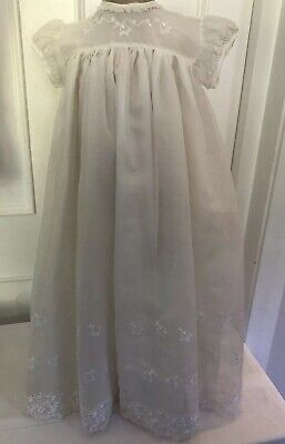 Vintage Ivory Christening Gown Age 3-6 Months