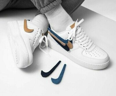 NIKE AIR FORCE 1 LV8 3 Removable Swoosh White Sizes 5