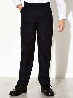 NEW EX JOHN LEWIS BOYS NAVY ADJUSTABLE WAIST SCHOOL TROUSERS 9-14 yrs NT12