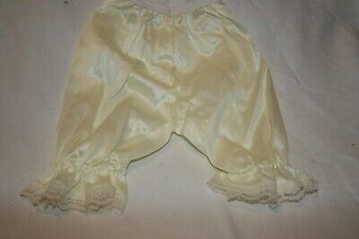 "NEW 27"" Doll Clothes Nylon Bloomers Cream High Quality Baby New Born Preemie"