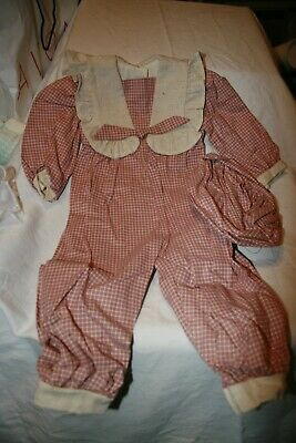 "NEW 27"" Doll Clothes Plaid Jumpsuit Romper High Quality Baby New Born Preemie"