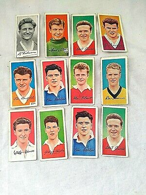 Vintage 1961 Barratt & Co Trade Cards 12 Cards Famous Footballers Series A8