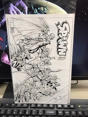 Spawn #300 Cover P Jerome Opena BW Variant