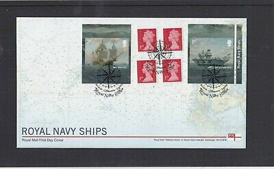 GB 2019 Royal Navy Ships retail stamp booklet cyl W1 RM FDC Greenwich spec pmk