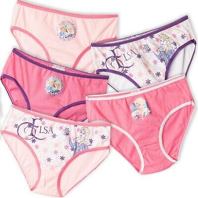 Disney Frozen Elsa Cotton Girls underwear briefs knickers 5-Pack Set 2-8 years