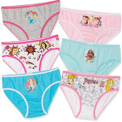 Disney Princess Girls Cotton underwear briefs knickers 5-Pack bulk Set 2-8 years