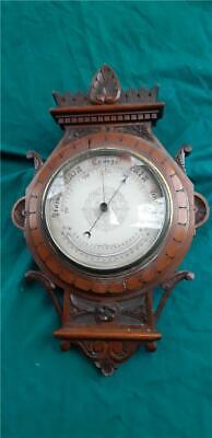 19th Century Victorian Wooden Wall Barometer in Original Condition