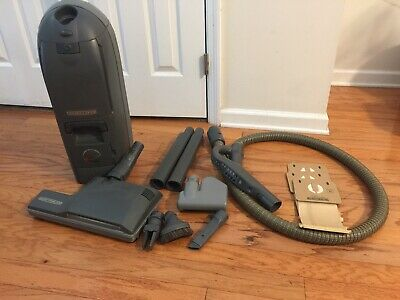 Vtg Electrolux Renaissance Model C104 Canister Vacuum Cleaner & Attachments