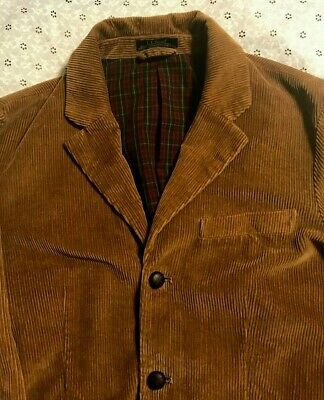 vintage L.L. BEAN BROWN CORDUROY SPORT COAT w/ELBOW PADS blazer MEN'S 40 R nice