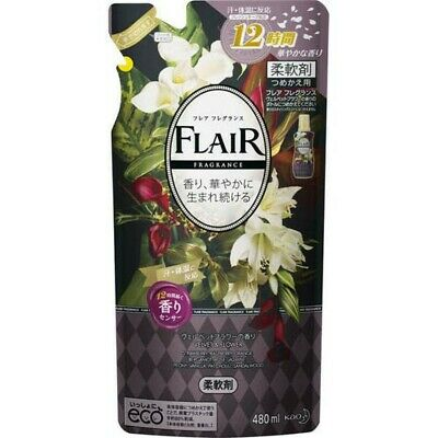 Kao Japan FLAIR FRAGRANCE Laundry Fabric Softener Velvet & Flower 480ml Refill