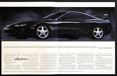 """1993 Toyota Supra Coupe photo """"Its Crossed the Line"""" 4-page Mag Insert print ad"""