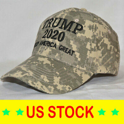 Donald Trump 2020 Keep America Great Cami Cap President Election Camo Hat - Sde