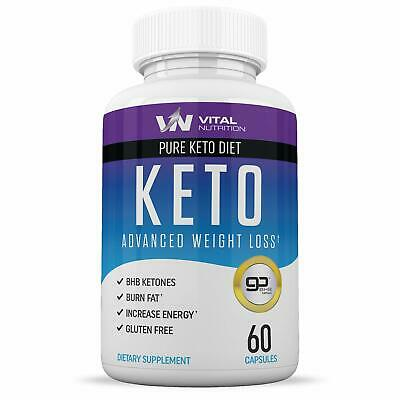 Pure Keto Diet Pills - Ketosis Supplement to Burn Fat Fast  60 Capsules