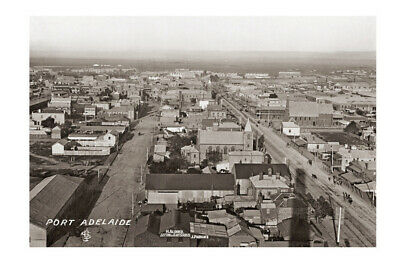 PORT ADELAIDE looking East from Harts Mill c1927 modern digital Photo Postcard