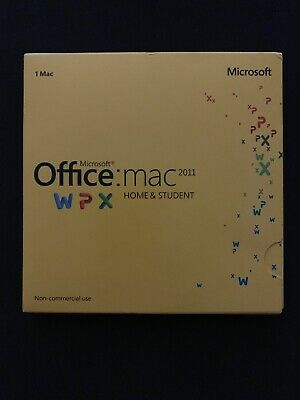 Microsoft Office Mac 2011 Home & Student Word Excel PowerPoint